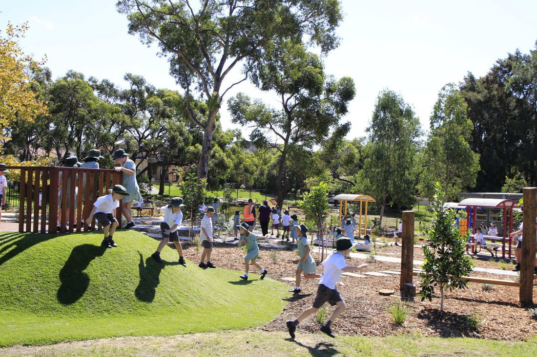 Students enjoying our spacious playground